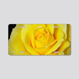 Beautiful single yellow ros Aluminum License Plate