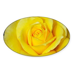 Yellow Rose Stickers Cafepress