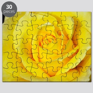 Beautiful single yellow rose Puzzle