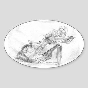 sharpdesigns.bike.speedwaybikeforpr Sticker (Oval)