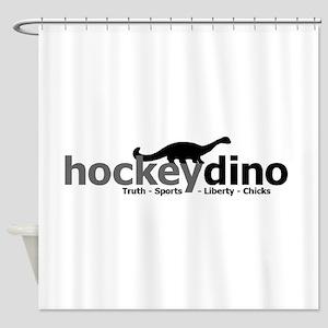 HockeyDino Shower Curtain