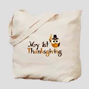 My 1st Thanksgiving Owl Tote Bag