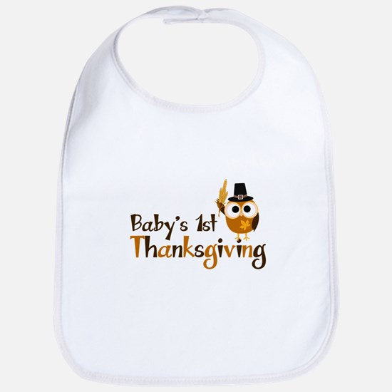 Baby's 1st Thanksgiving Owl Bib