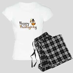 Happy Thanksgiving Owl Women's Light Pajamas