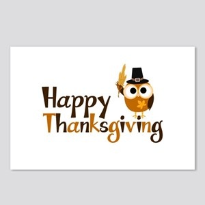 Happy Thanksgiving Owl Postcards (Package of 8)