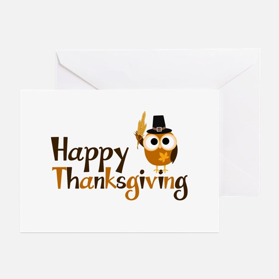 Happy Thanksgiving Owl Greeting Cards (Pk of 20)