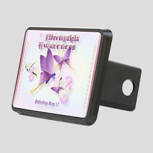 Fibromyalgia Awareness Rectangular Hitch Cover