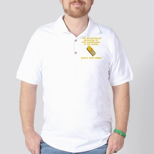 Dry GeoCache Tupperware Yellow Golf Shirt