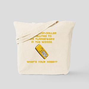 Dry GeoCache Tupperware Yellow Tote Bag
