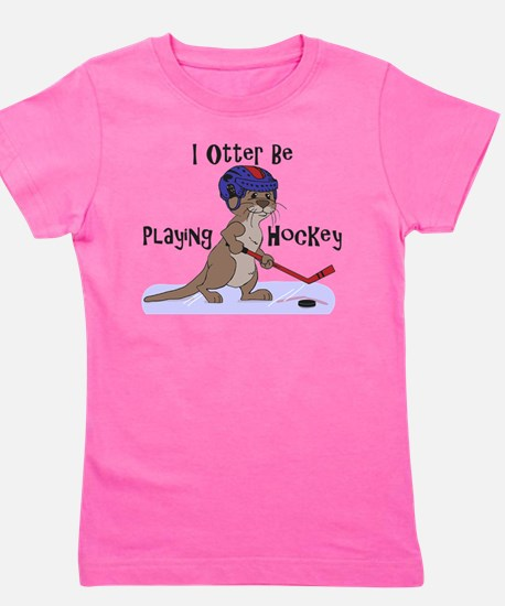 I Otter Be Playing Hockey.png Girl's Tee