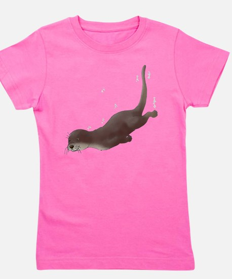 Otterswimcpapperal.png Girl's Tee