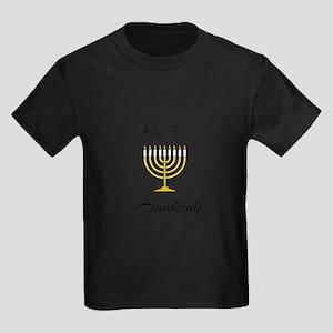 My First Hanukkah Kids Dark T-Shirt