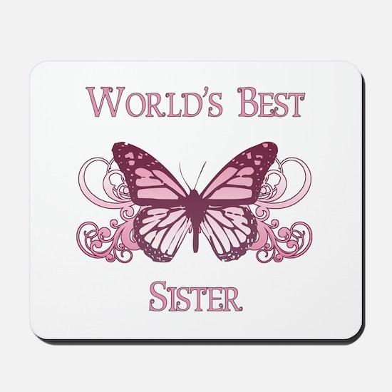 World's Best Sister (Butterfly) Mousepad