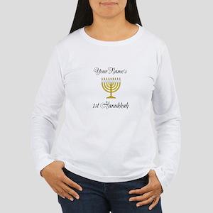 Custom 1st Hanukkah Women's Long Sleeve T-Shirt