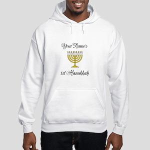 Custom 1st Hanukkah Hooded Sweatshirt
