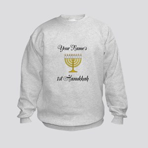 Custom 1st Hanukkah Kids Sweatshirt