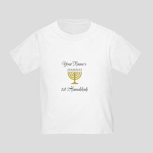 Custom 1st Hanukkah Toddler T-Shirt