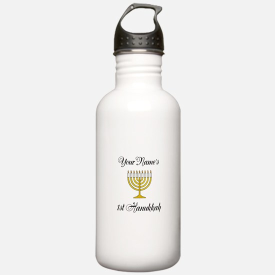 Custom 1st Hanukkah Water Bottle