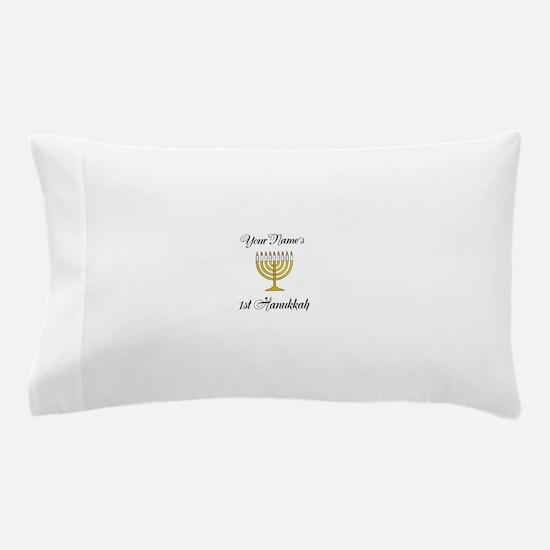 Custom 1st Hanukkah Pillow Case