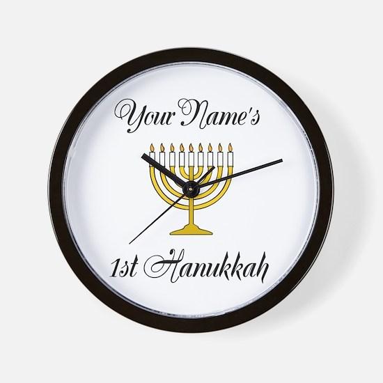 Custom 1st Hanukkah Wall Clock