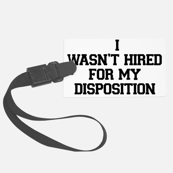 Disposition_black Luggage Tag