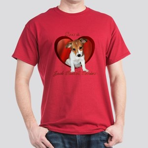 Jack Russell Heart Dark T-Shirt