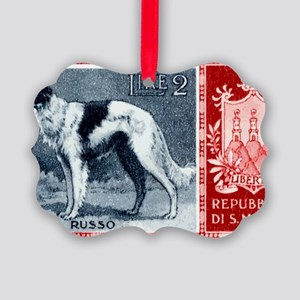 Vintage 1956 San Marino Borzoi Do Picture Ornament