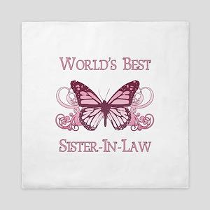 World's Best Sister-In-Law (Butterfly) Queen Duvet