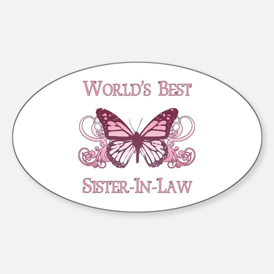World's Best Sister-In-Law (Butterfly) Decal