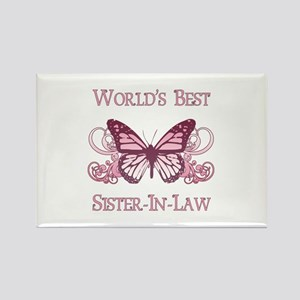 World's Best Sister-In-Law (Butterfly) Rectangle M
