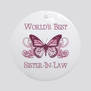 World's Best Sister-In-Law (Butterfly) Ornament (R