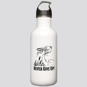 Never Give Up! Stainless Water Bottle 1.0L