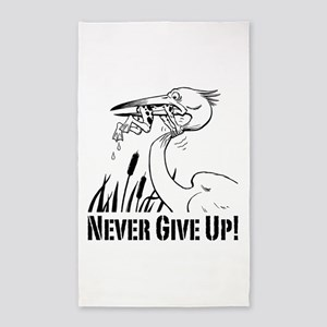 Never Give Up! 3'x5' Area Rug