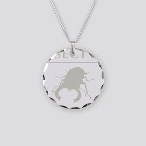 Carpe Insetum D tan 2 Necklace Circle Charm