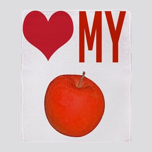 Love My Apple T-Shirts Throw Blanket