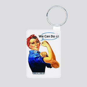 We Can Do It! Aluminum Photo Keychain