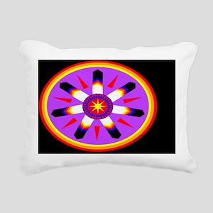 EAGLE FEATHER MEDALLION Rectangular Canvas Pillow