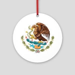 Mexico COA Round Ornament