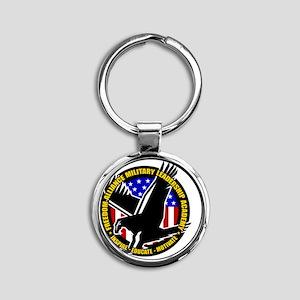 MLA Round Keychain