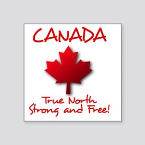 "True North Square Sticker 3"" x 3"""