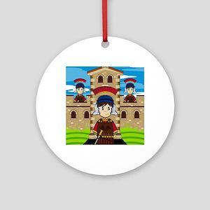 Roman Pad15 Round Ornament