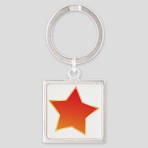 Star Square Keychain