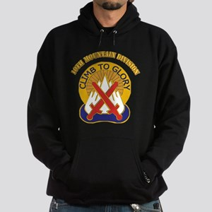 DUI - 10th Mountain Division with Text Hoodie (dar