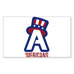 AA logo with red wordmark Sticker
