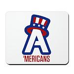 AA logo with red wordmark Mousepad