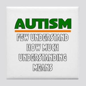 Autism support Tile Coaster