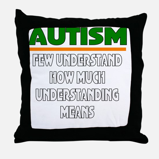 Autism support Throw Pillow