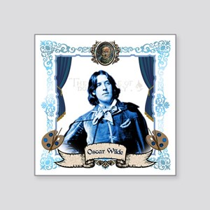 "Oscar Wilde Dorian Gray Square Sticker 3"" x 3"""
