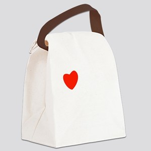 love_white-all Canvas Lunch Bag