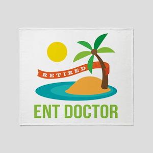 Retired ENT Doctor Throw Blanket